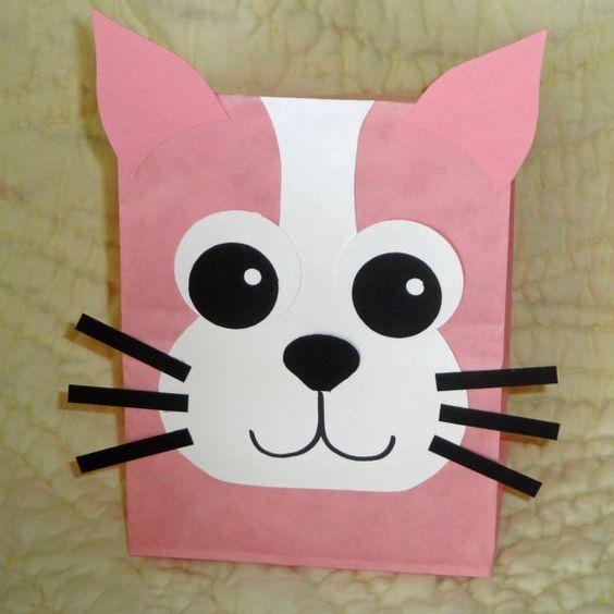 Como fazer sacolinhas personalizadas de bichinhos gatinho