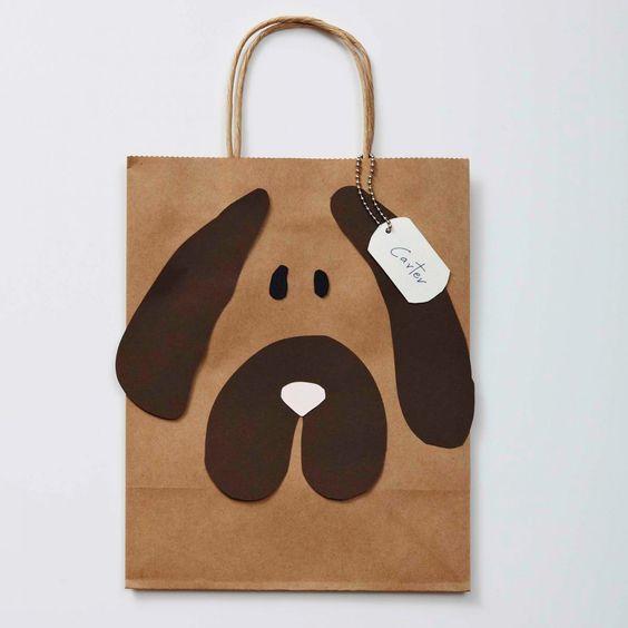 sacolinha personalizada de cãozinho